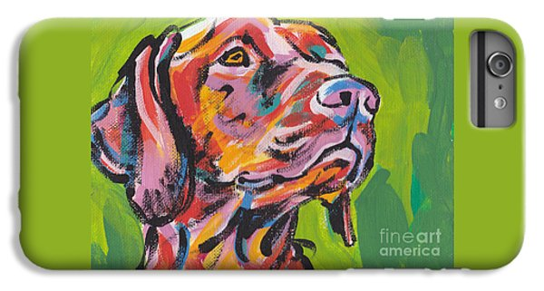 Dog iPhone 6 Plus Case - Viva La Vizsla by Lea S