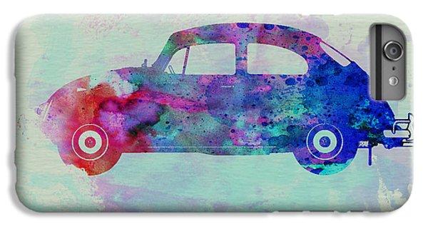 Beetle iPhone 6 Plus Case - Vw Beetle Watercolor 1 by Naxart Studio