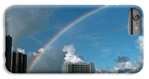 IPhone 6 Plus Case featuring the photograph Waikiki Rainbow by Anthony Baatz