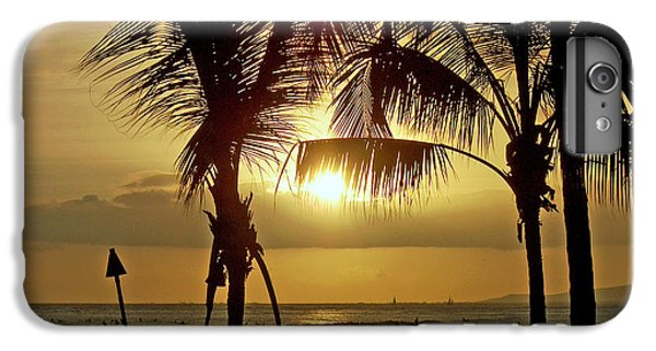 IPhone 6 Plus Case featuring the photograph Waikiki Sunset by Anthony Baatz