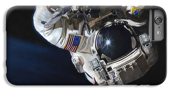 Astronauts iPhone 6 Plus Case - Walk Into Darkness  by Simon Kregar