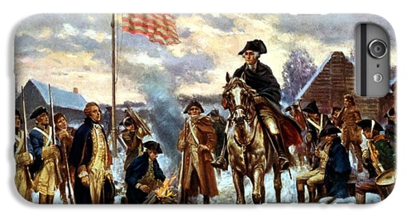 Washington At Valley Forge IPhone 6 Plus Case by War Is Hell Store