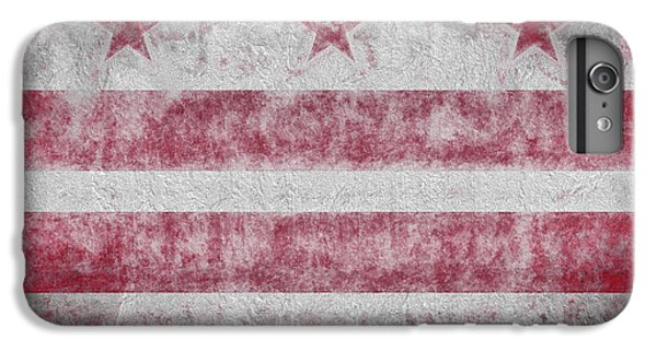 IPhone 6 Plus Case featuring the digital art Washington Dc City Flag by JC Findley