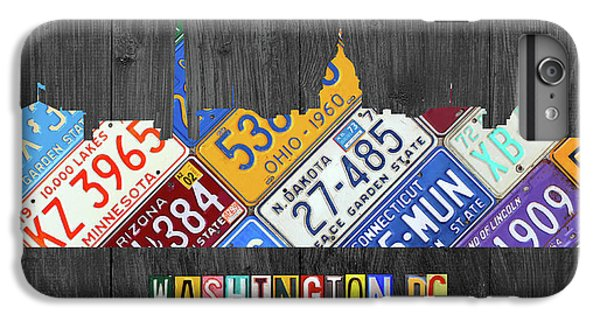 Washington Dc Skyline Recycled Vintage License Plate Art IPhone 6 Plus Case by Design Turnpike