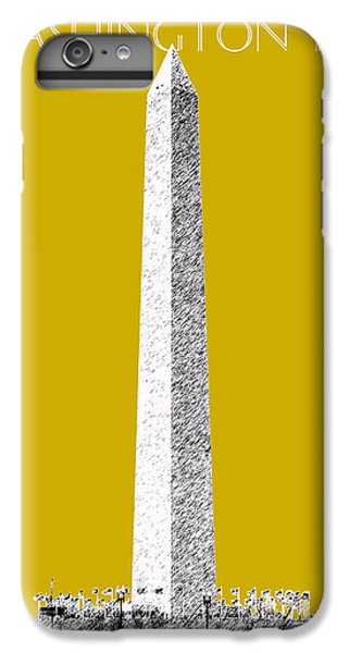 Washington Dc Skyline Washington Monument - Gold IPhone 6 Plus Case by DB Artist