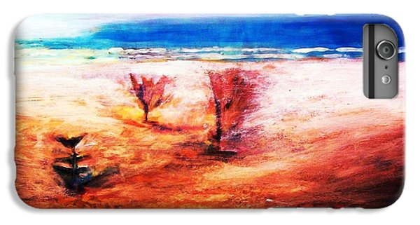 IPhone 6 Plus Case featuring the painting Water And Earth by Winsome Gunning