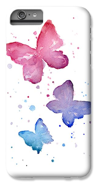 Butterfly iPhone 6 Plus Case - Watercolor Butterflies by Olga Shvartsur