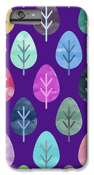 Watercolor Forest Pattern II IPhone 6 Plus Case by Amir Faysal