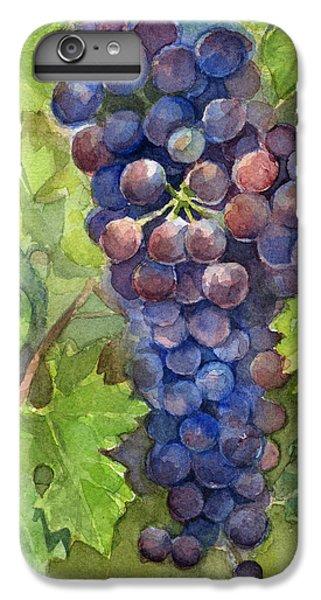 Watercolor Grapes Painting IPhone 6 Plus Case by Olga Shvartsur