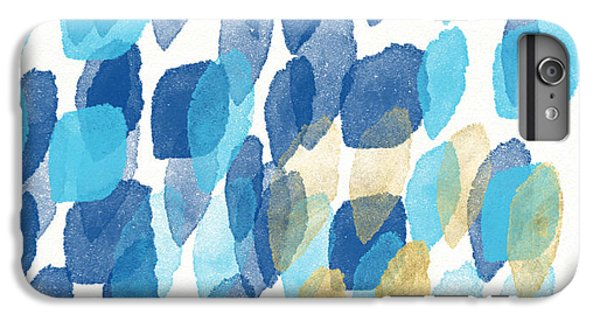 Blue iPhone 6 Plus Case - Waterfall- Abstract Art By Linda Woods by Linda Woods