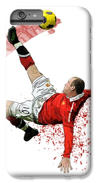 Wayne Rooney IPhone 6 Plus Case by Armaan Sandhu
