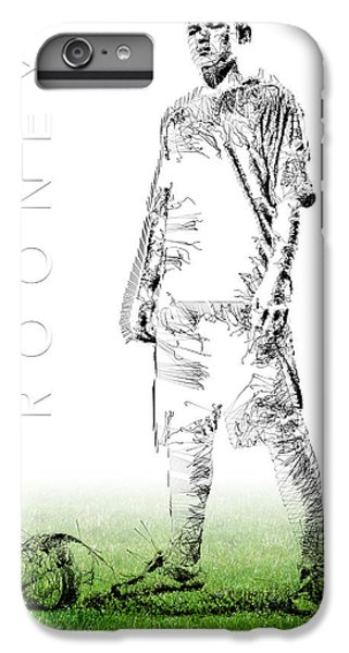 Wayne Rooney IPhone 6 Plus Case by ISAW Gallery