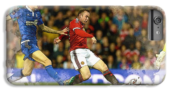 Wayne Rooney Of Manchester United Scores IPhone 6 Plus Case by Don Kuing