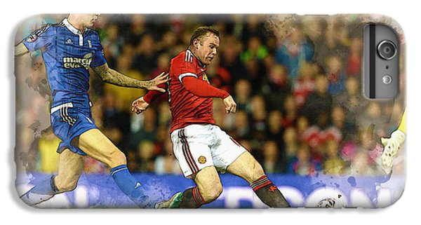 Wayne Rooney iPhone 6 Plus Case - Wayne Rooney Of Manchester United Scores by Don Kuing