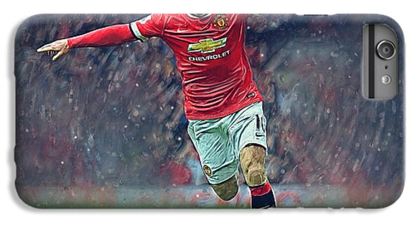 Wayne Rooney IPhone 6 Plus Case by Semih Yurdabak