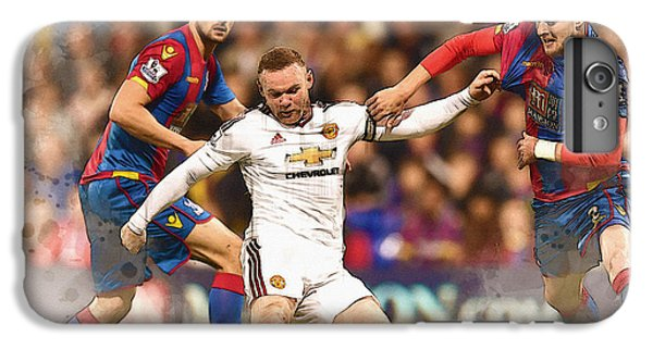 Wayne Rooney Shoots At Goal IPhone 6 Plus Case