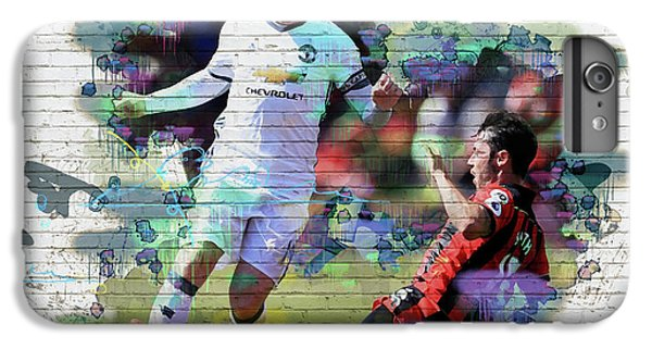 Wayne Rooney iPhone 6 Plus Case - Wayne Rooney Street Art by Don Kuing