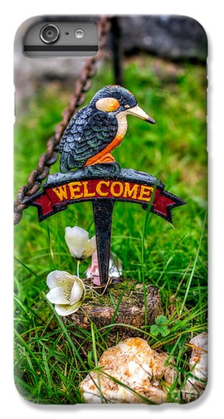 Kingfisher iPhone 6 Plus Case - Welcome Sign by Adrian Evans