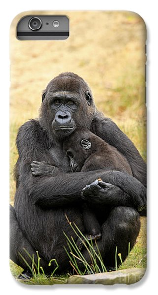 Western Gorilla And Young IPhone 6 Plus Case by Jurgen & Christine Sohns/FLPA