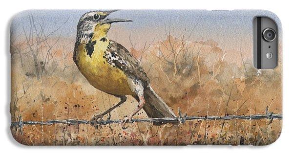 Meadowlark iPhone 6 Plus Case - Western Meadowlark by Sam Sidders