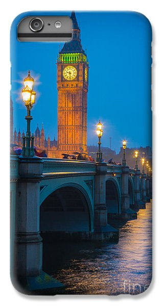 Westminster Bridge At Night IPhone 6 Plus Case by Inge Johnsson