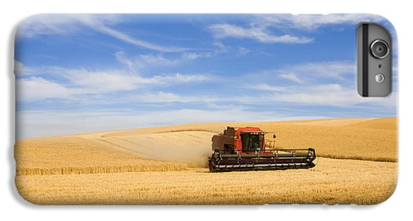 Rural Scenes iPhone 6 Plus Case - Wheat Harvest by Mike  Dawson