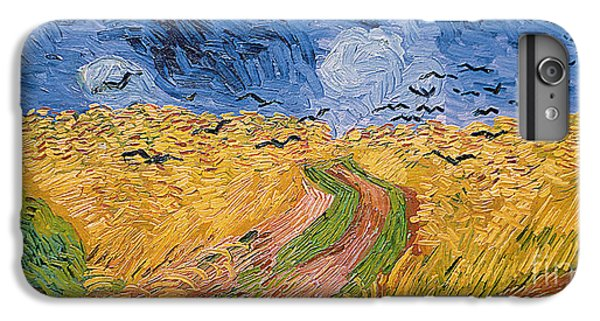 Landscape iPhone 6 Plus Case - Wheatfield With Crows by Vincent van Gogh