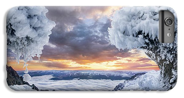 Mountain Sunset iPhone 6 Plus Case - Where The Waves Collide by Adrian Borda