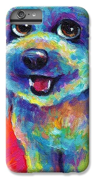 iPhone 6 Plus Case - Whimsical Labradoodle Painting By by Svetlana Novikova
