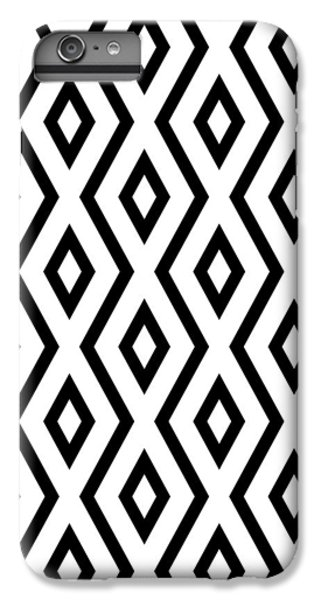 White And Black Pattern IPhone 6 Plus Case by Christina Rollo