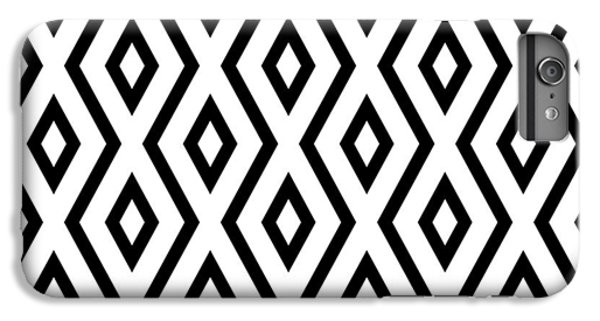 White iPhone 6 Plus Case - White And Black Pattern by Christina Rollo