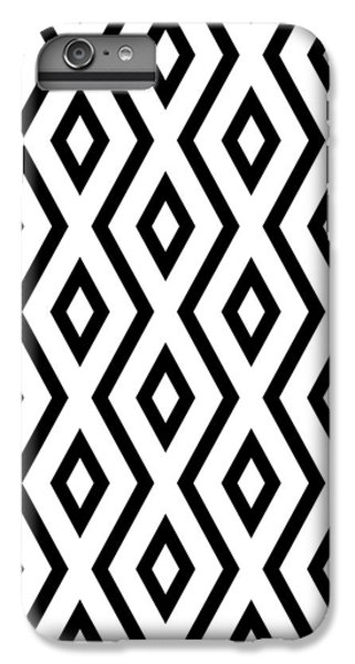 Beach iPhone 6 Plus Case - White And Black Pattern by Christina Rollo