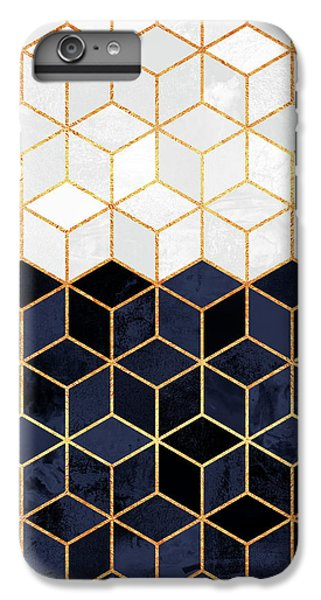 White And Navy Cubes IPhone 6 Plus Case