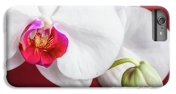 Orchid iPhone 6 Plus Case - White And Red Orchids by Tom Mc Nemar