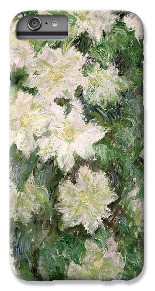 White Clematis IPhone 6 Plus Case by Claude Monet