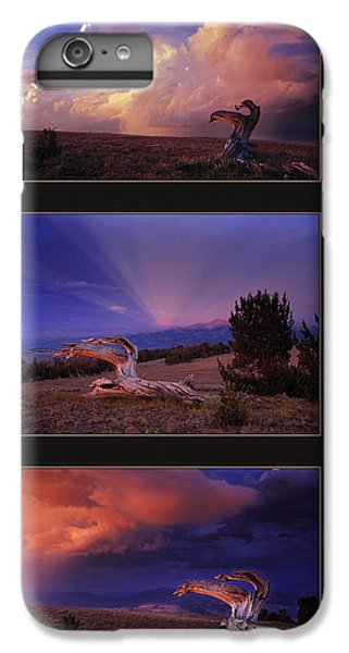 Mountain Sunset iPhone 6 Plus Case - White Clouds Triptych by Leland D Howard