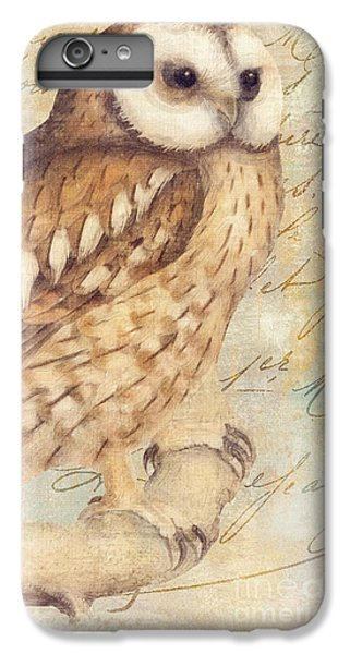 Owl iPhone 6 Plus Case - White Faced Owl by Mindy Sommers