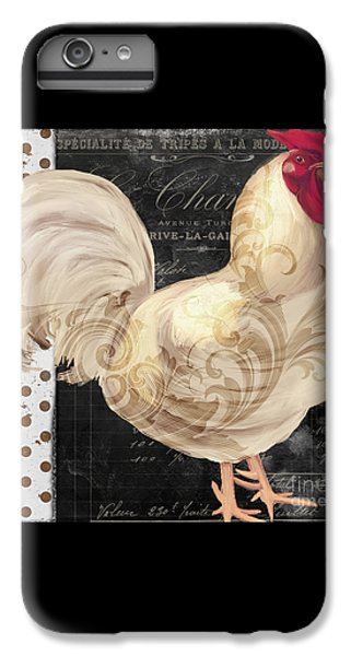 White Rooster Cafe I IPhone 6 Plus Case by Mindy Sommers