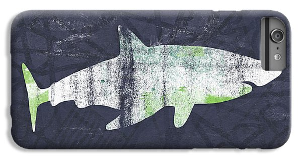 Sharks iPhone 6 Plus Case - White Shark- Art By Linda Woods by Linda Woods