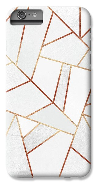 White Stone And Copper Lines IPhone 6 Plus Case by Elisabeth Fredriksson