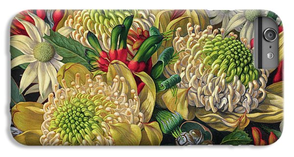 White Waratahs Flannel Flowers And Kangaroo Paws IPhone 6 Plus Case