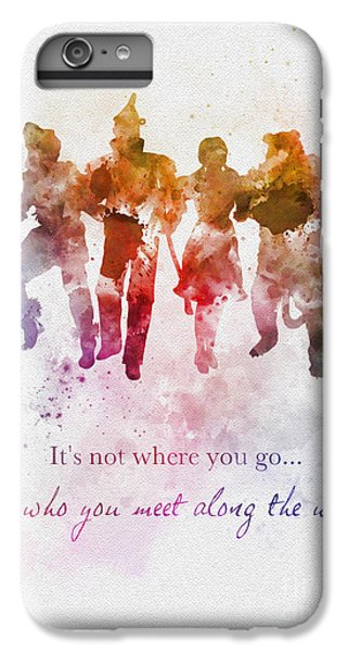 Wizard iPhone 6 Plus Case - Who You Meet Along The Way by Rebecca Jenkins