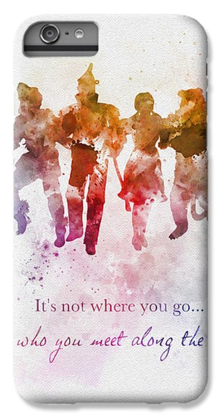 Lion iPhone 6 Plus Case - Who You Meet Along The Way by My Inspiration