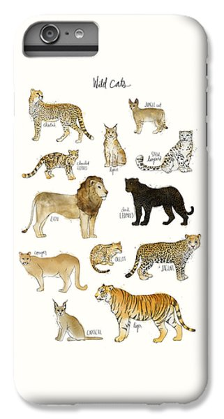 Tiger iPhone 6 Plus Case - Wild Cats by Amy Hamilton