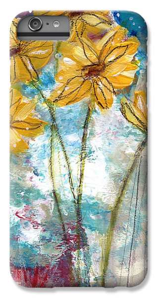 Sunflower iPhone 6 Plus Case - Wild Sunflowers- Art By Linda Woods by Linda Woods