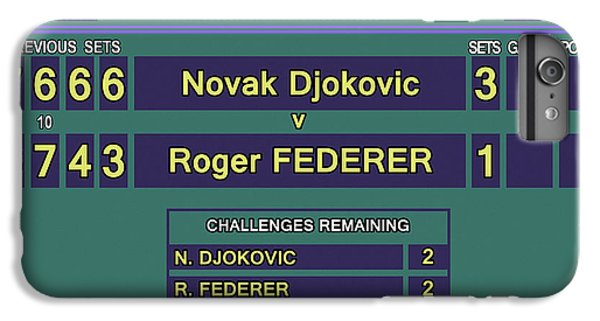 Venus Williams iPhone 6 Plus Case - Wimbledon 2015 Final Djokovic V Federer by Carlos Vieira