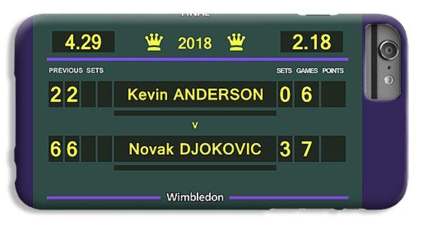 Venus Williams iPhone 6 Plus Case - Wimbledon Scoreboard - Customizable by Carlos Vieira
