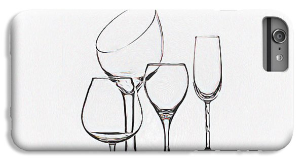 Wine iPhone 6 Plus Case - Wineglass Graphic by Tom Mc Nemar