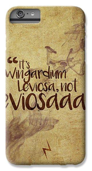 Wizard iPhone 6 Plus Case - Wingardium by Samuel Whitton