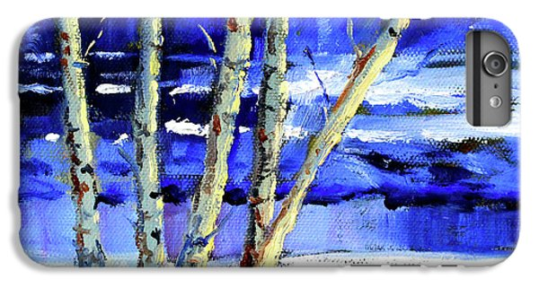 IPhone 6 Plus Case featuring the painting Winter By The River by Nancy Merkle